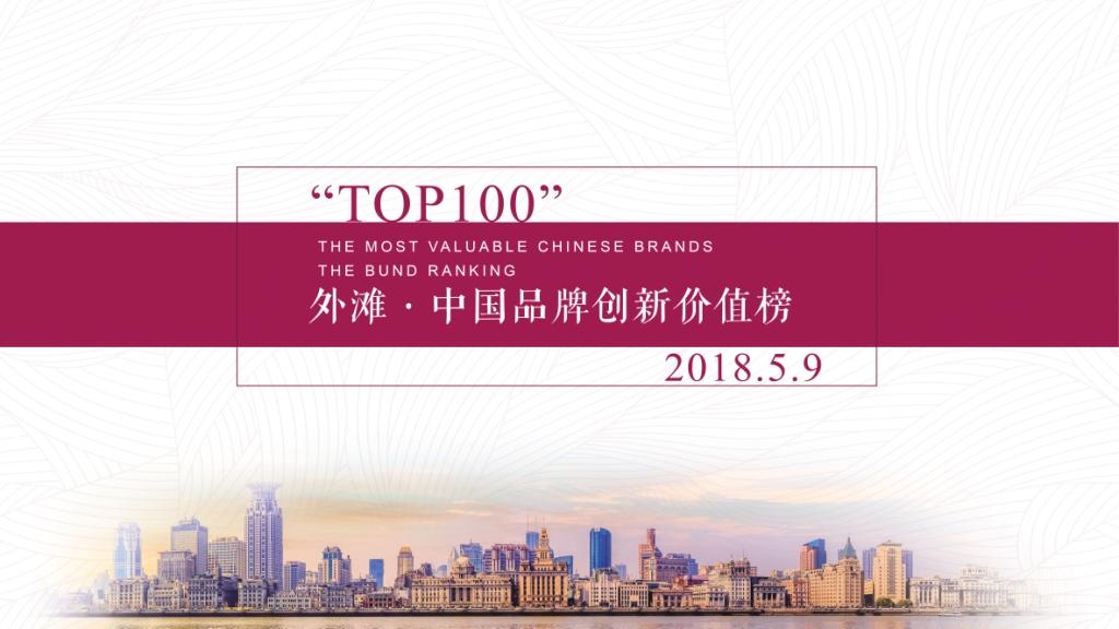 外滩·中国品牌创新价值榜(2018)评选